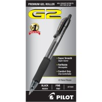 PILOT PEN G2 PREM.GEL 7MM BLK